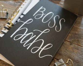 Boss Babe Journal/ Boss Babe Gift/ Girl Boss Gift/ Boss Babe Notebook