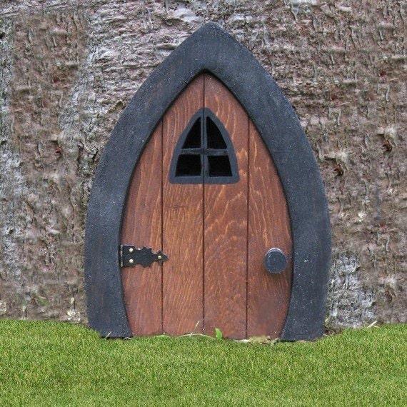Gnome doors fairy doors faerie doors elf doors 9 inch for Elf door and elf