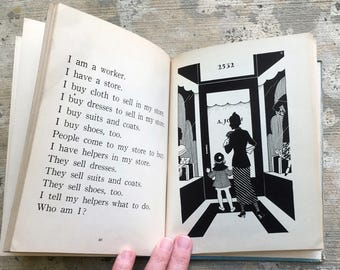 Who Am I, 1935, Picture Riddles for young readers, Lily Lee Dootson, illustrated by Clarence Biers