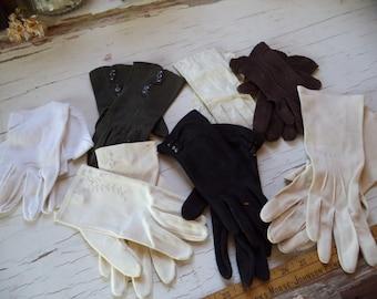 7 paires de gants Vintage
