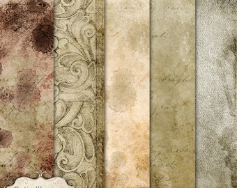 Ancient - Digital Scrapbooking Papers -  - 12 x 12 - Commercial Use OK -  INSTANT DOWNLOAD -2.50
