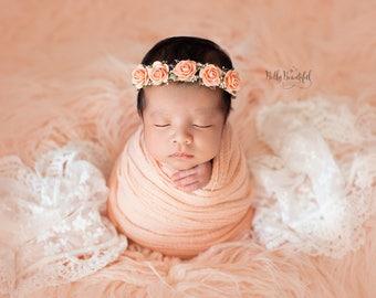 Prue Newborn Tieback • Newborn Flower Crown • Simple Crown • Bohemian Crown • Newborn Floral Crown | READY TO SHIP