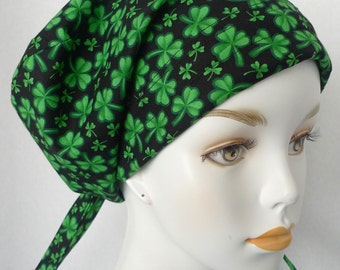 English Traditions Shamrock Cancer Hat Chemo Hair Loss Scarf Perfect for St Patrick's Day!