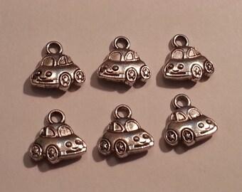 10mm Doodle Bug Car Charms/Pendants/Decor - 6pc - Tibetan Silver