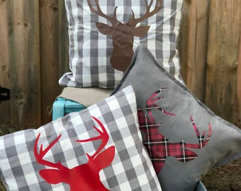 Reindeer Pillow/Holiday Pillow
