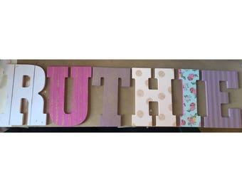 Custom Wooden Name Letters Toybox Nursery