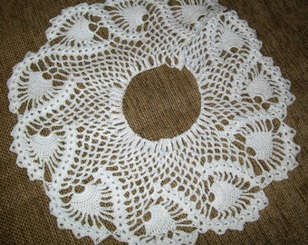 Hand Crochet White Collar