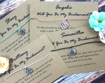 Will You Be My Bridesmaid Wish Bracelet, Wish Upon Your Wrist, Bridesmaids Jewelry, Bridesmaid Gift, Wedding Jewelry, Gifts For Bridesmaids
