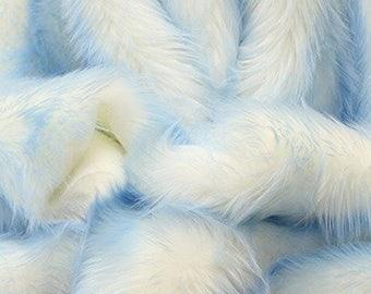 Baby blue shaggy tips faux fur pillow sham 26x26 bed pillows  2 piece