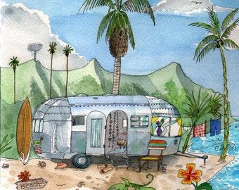 Airstream Paradise Print