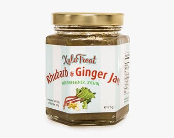 Xylotreat Rhubarb and Ginger Jam - Sweetened with Xylitol
