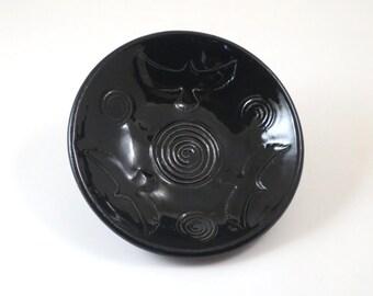 RAVEN CELTIC Bowl Handmade Ceramic Pottery