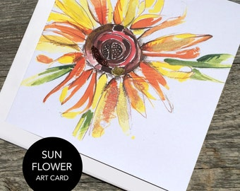 Sunflower Art Card (Greeting Card)