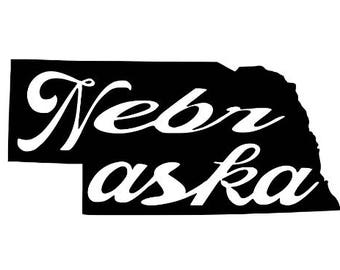 Nebraska Home State Vinyl Car Decal Bumper Window Sticker Any Color Multiple Sizes Jenuine Crafts