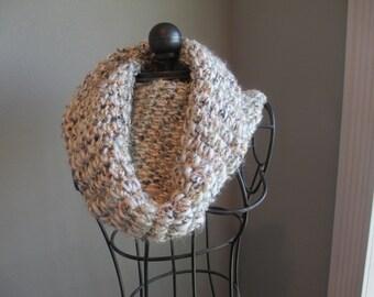 Handmade crochet chunky cowl