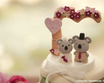 koala wedding cake topper