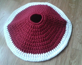 Cubrepié handmade (crochet) fabric
