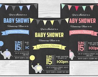 Printable Baby Shower Invitations, Baby Girl, Baby Boy, Neutral Baby Shower DIY DIGITAL DOWNLOAD