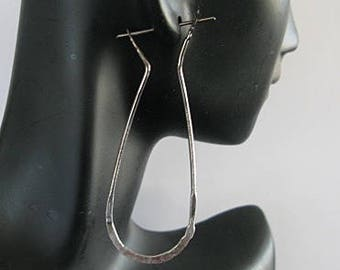 Pure Fine Silver Earrings Silver Hoop Earrings Black Tribal Earrings Handmade Silver Hoop Earrings Earrings Ombre Earrings Hammered Silver