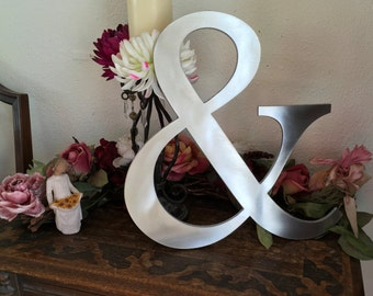 ampersand, wedding prop, wall decor, wedding decor, instagram prop, ampersand sign, metal letters, farmhouse decor, photo prop, home decor