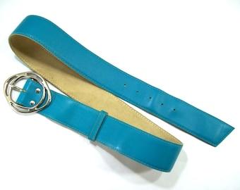 Leather Belt, Vintage Leather Belt, Women's Leather Belt