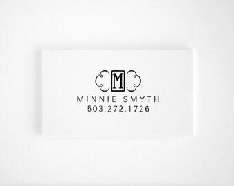 Unique Letterpress Calling Cards - Monogram Business Cards - Black and White - Letterkast
