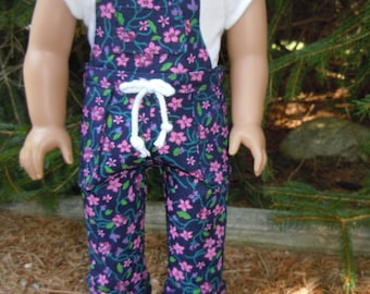 Overall outfit to fit American Girl Doll or 18 in. doll