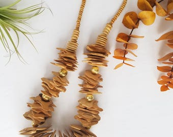 Natural Wood Slices Necklace
