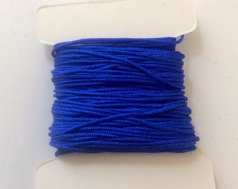 10 meters of nylon string 0.80 mm electric blue for creations of jewels