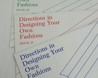 Vintage European School of Designs Design your own fashions 3 books