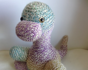 Crocheted animal Cliff the Dino
