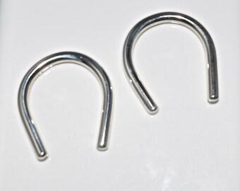 8 Gauge .999 Fine Silver Earrings