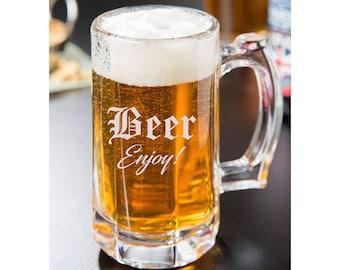 Perrsonalized Beer Mug 12oz