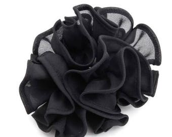 Solid color Sheer Chiffon scrunchie Fabric Hair Tie scrunchy Elastic Band in women scrunchies accessory