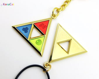 Zelda Triforce Necklace Keychain (Din, Farore, Nayru)
