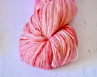 "Hand Dyed Yarn - Fingering weight - ""Candy"" Colorway - Hand Dyed Yarn - Socks - Shawl"