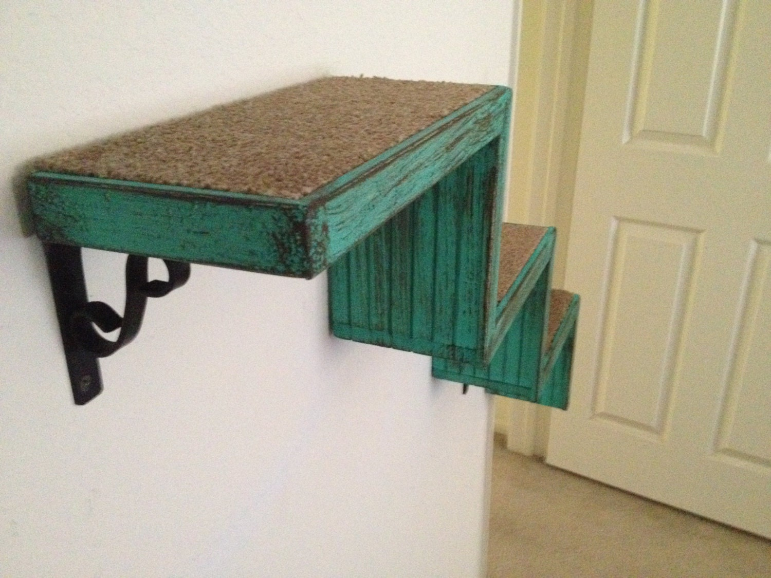 Set Of Three Two Cat Stairs One Bed Wall Shelves