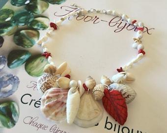 Necklace - summer - beach, shells, Sun