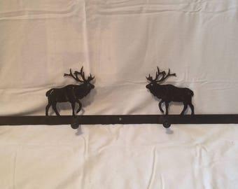 Elk rustic metal 4 post coatrack