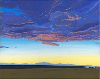 Desert Sunset - Art Print 8x10