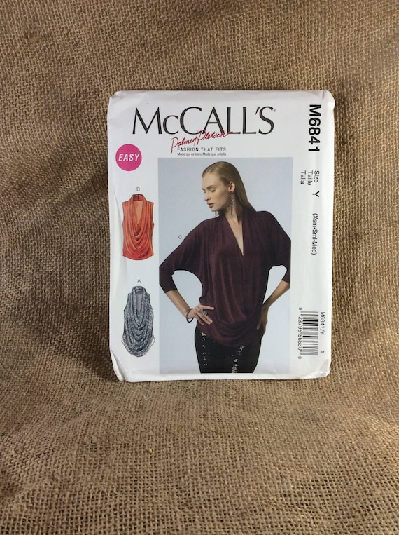 McCalls M6841 Palmer Pletsch designed pattern, Easy cute loose fitting blouse, pattern from 2013, McCalls UNCUT pattern 2.50 US shipping