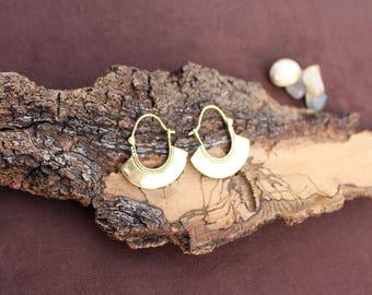 Brass Tuareg Earrings, Tribal Jewellery, Boho Chic Earrings, Ethnic Earrings, Boho Earrings, Brass Earrings, Boucles d'oreille Touareg