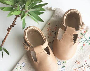 Baby Shoes T-bars - Butterscotch