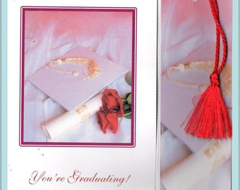 Handmade Bookmark Graduation Card - 2 Variations Congratulations Cards - Free shipping in USA