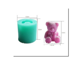 3D Teddy Bear Silicone Mould