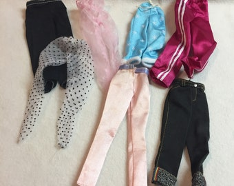 Vintage Barbie Clothes - Assortment of Pants - 7 Pieces (#156)