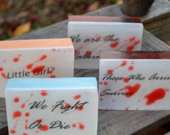 Walking Dead Inspired Soap Bars - Set of 4 -  Novelty Soap - Holiday Gift -  Party Favors