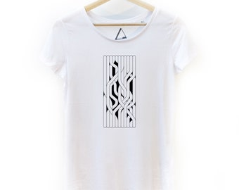 "Hand-printed ""Entanglement"" T-shirt Women"