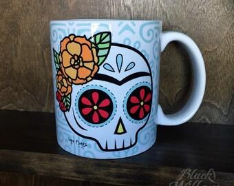 Frida Skull Mug by Lupe Flores