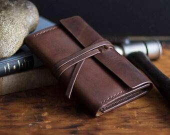Moleskine Leather Journal Wrap w/ Journal
